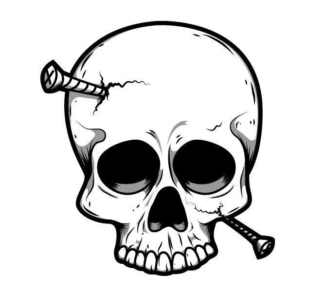 Эскизы тату черепа